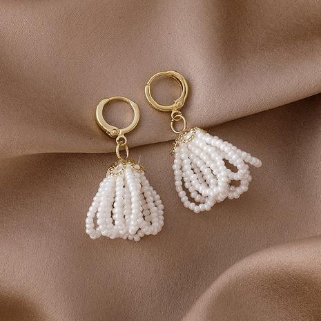 Pearl tassel earrings  NHMS306705's discount tags