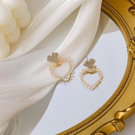 neue Mode lieben Kristall hohle Ohrringe NHMS306710's discount tags