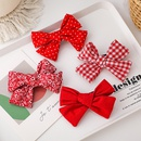 Sweet fabric bow hairpin  NHMS306731