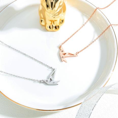 wholesale simple crane pendant necklace  NHOP306503's discount tags