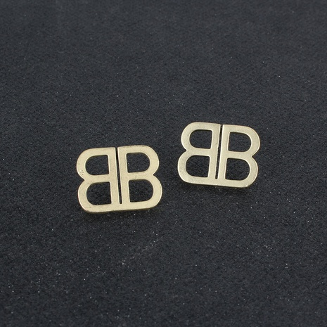 retro alloy alphabet earrings  NHCT306424's discount tags