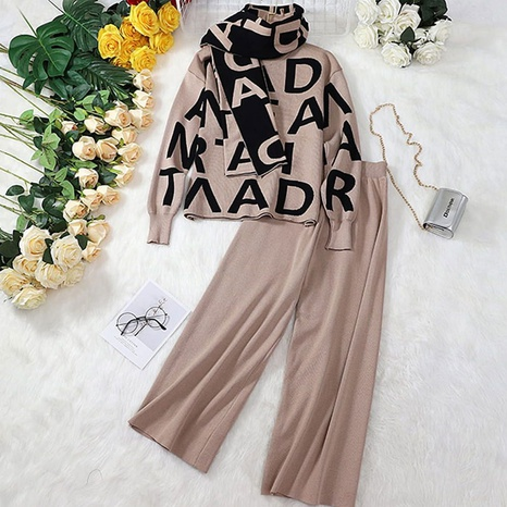 fashion trendy knitted top wide-leg pants suit NHJC307311's discount tags