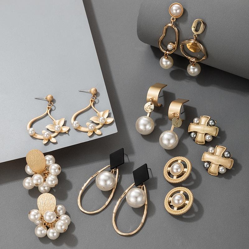 fashion flower pearl earrings  NHGY307307