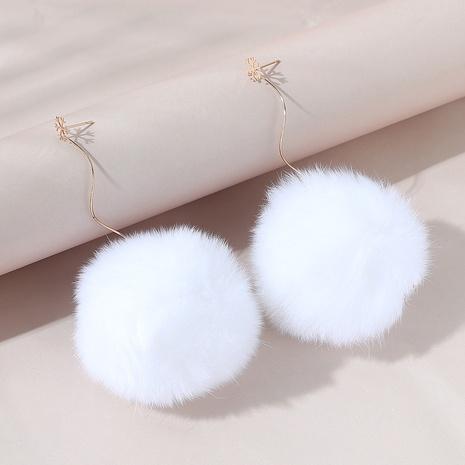 Korean simple fashion cute ball earrings NHPS306744's discount tags