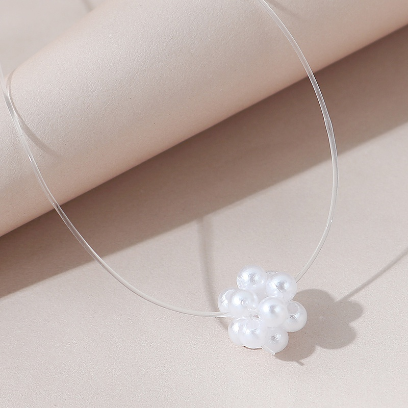 Korean retro wild fashion simple pearl necklace NHPS306752