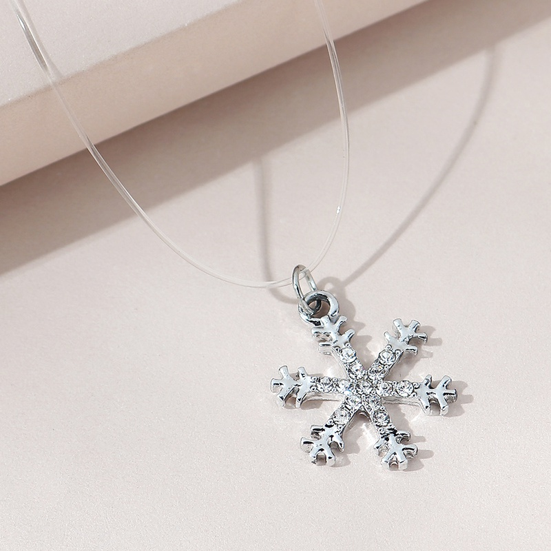 fashion creative cute snowflake necklace NHPS306754