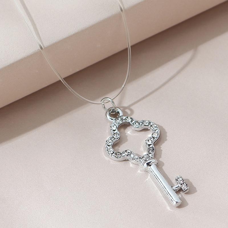 creative fashion trendy line key necklace NHPS306755