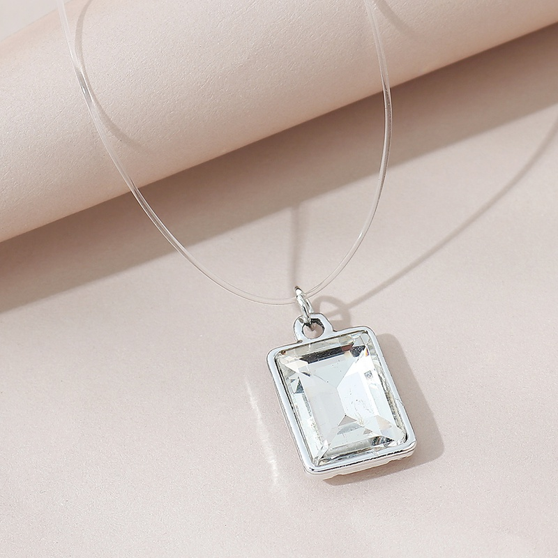 simple fashion glass necklace NHPS306756