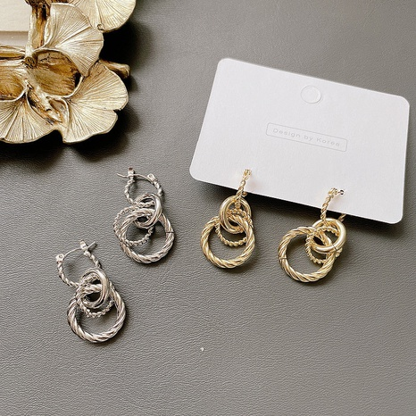 multi-layer circle alloy retro earrings NHHI306761's discount tags
