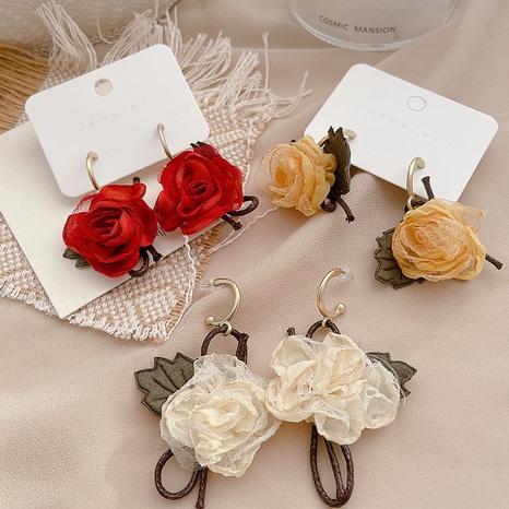 Blumen Stoff handgemachte Ohrringe NHHI306767's discount tags