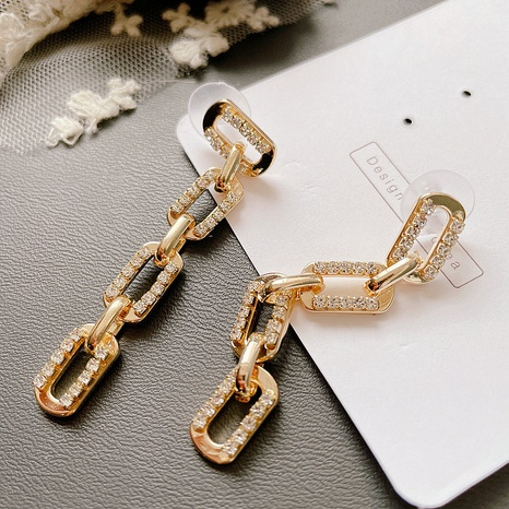 micro-inlaid chain alloy earrings NHHI306776's discount tags