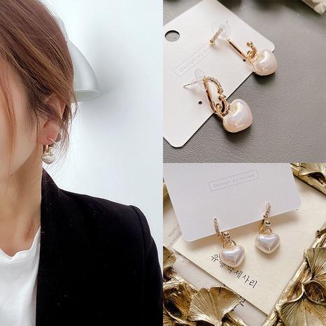 micro-inlaid heart pearl earrings NHHI306789's discount tags