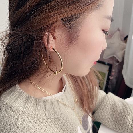 retro big circle alloy earrings NHHI306790's discount tags