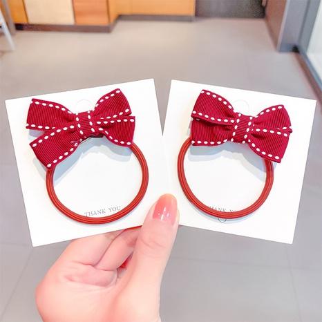 Cuerda de pelo de lazo rojo coreano NHNA306802's discount tags