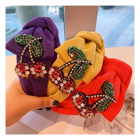 Korea Retro Kristallkirsche geometrisches Haarband NHHD306812's discount tags