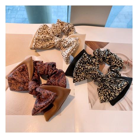 Scrunchies de pelo con estampado de leopardo de doble lazo de gasa retro de Corea NHHD306821's discount tags