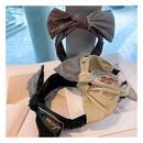 Korean simple wild rhinestone letters cross headband NHHD306826