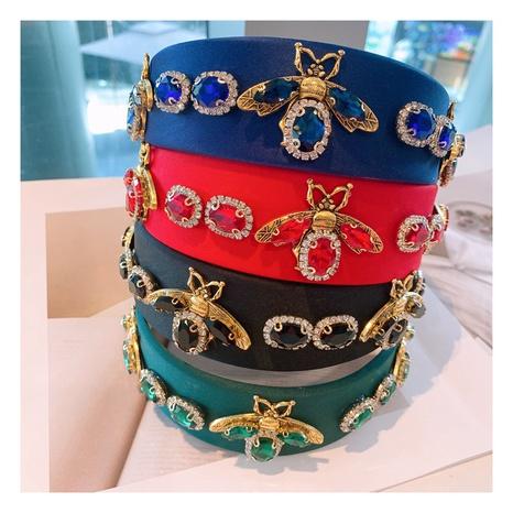 new fashion blue geometric full drilled bee headband NHHD306827's discount tags