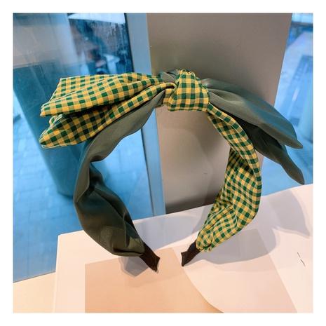 Korea's new retro square double-layer bow headband NHHD306830's discount tags