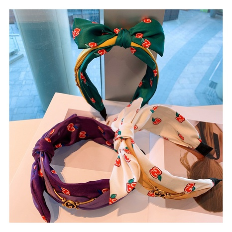Korean retro silk letters geometric bow headband NHHD306838's discount tags