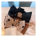 Korea Polka Dot Rhinestone Double Bow hair scrunchies NHHD306839