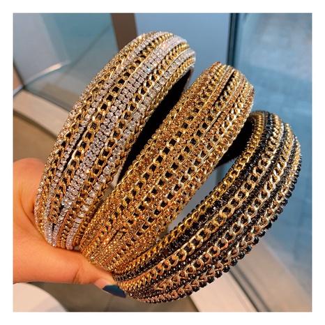 retro rhinestone chain star headband NHHD306840's discount tags