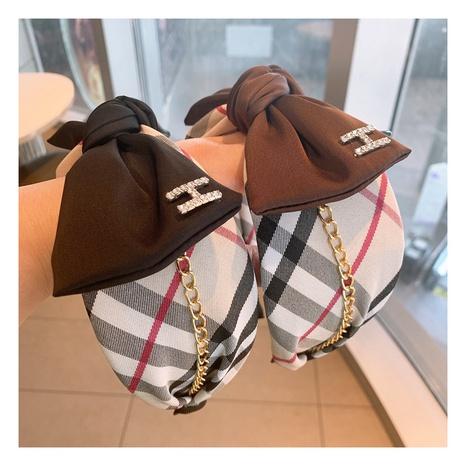 new fashion bow letter H diamond headband NHHD306841's discount tags