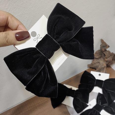Clip de lazo de terciopelo negro de Corea NHAR306853's discount tags