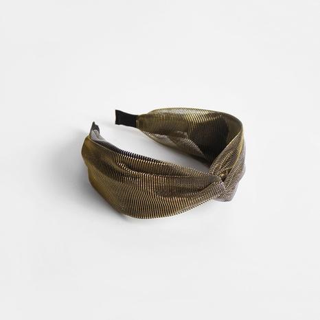 Koreanisches Seidenkreuz breites einfaches Stirnband NHAR306865's discount tags