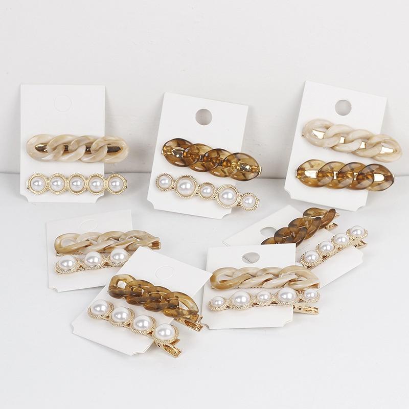 simple new pearl alloy clip NHAR306893