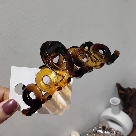 Einfache Haarspange der koreanischen französischen einfachen Acrylkurve NHAR306900's discount tags