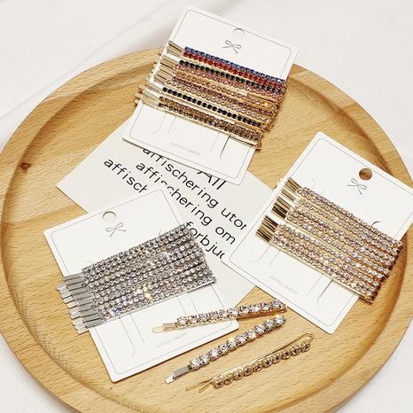 Korea alloy rhinestone hair clip set NHAR306908's discount tags