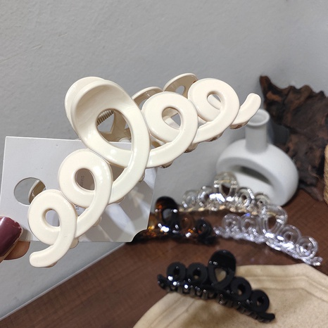 Korea simple silk hollow clip  NHAR306910's discount tags