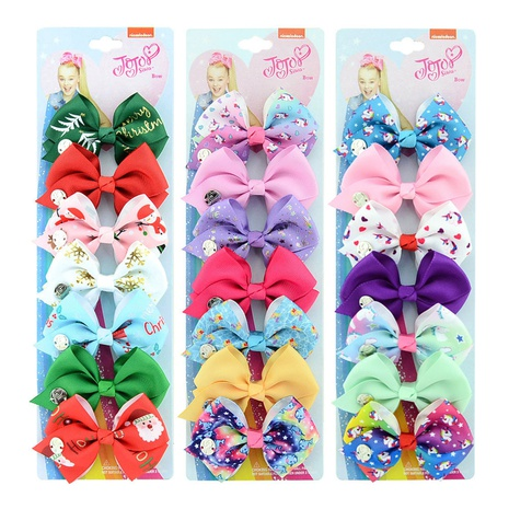 New fashion colorful Bow Hairpin set NHMO306951's discount tags