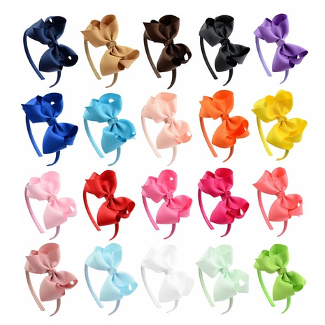 new children's Flower Bowknot headband set NHMO306959's discount tags