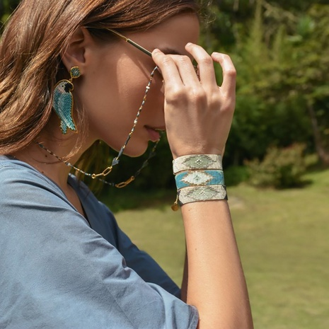 Einfache böhmische Elemente Perlen gewebtes Armband NHGW306974's discount tags