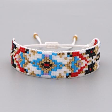 Armband aus gewebtem geometrischem Muster mit böhmischen Perlen NHGW306980's discount tags