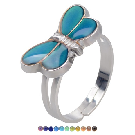 fashion cute butterfly temperature-sensing color opening ring NHBI307001's discount tags