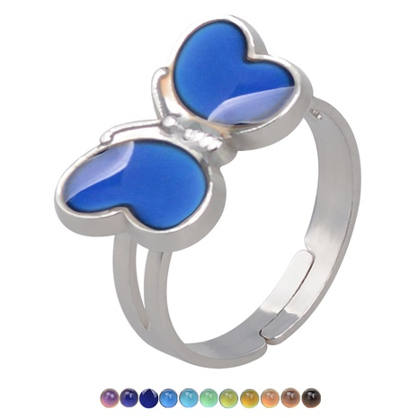 butterfly temperature-sensing color changing opening ring NHBI307004's discount tags