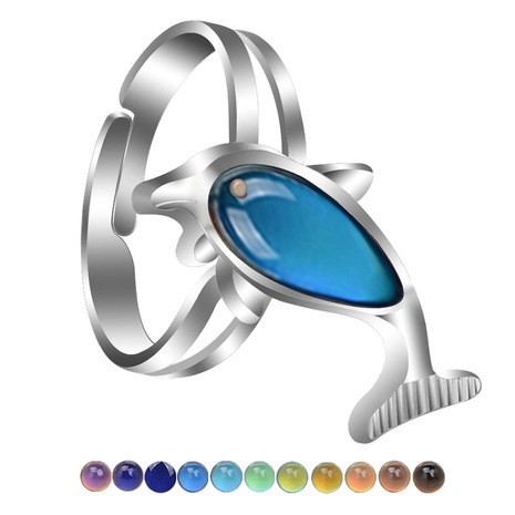 cute simple dolphin open ring  NHBI307007's discount tags