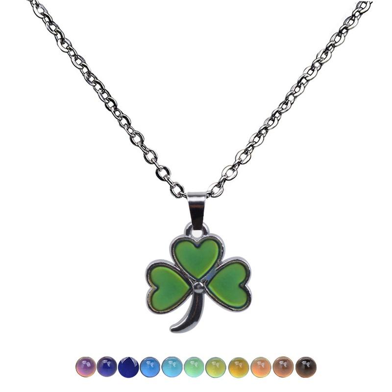 fashion creative three petal pendant stainless steel necklace  NHBI307008