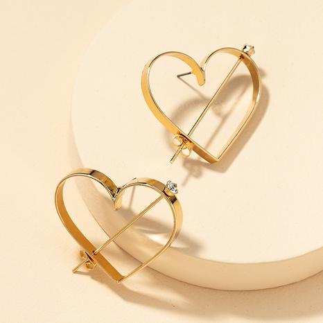 wholesale fashion heart earrings NHGU307026's discount tags