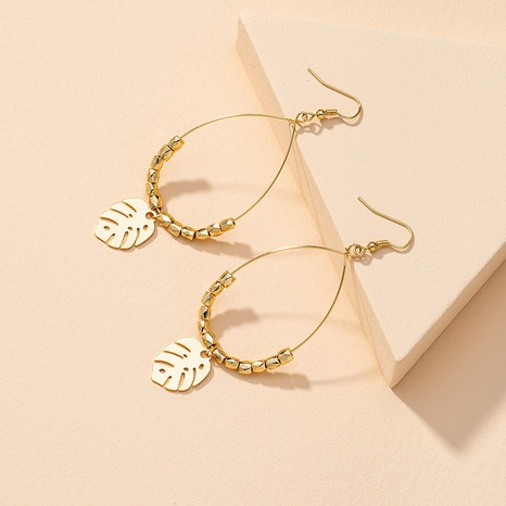 fashion metal leaf earrings  NHGU307027's discount tags