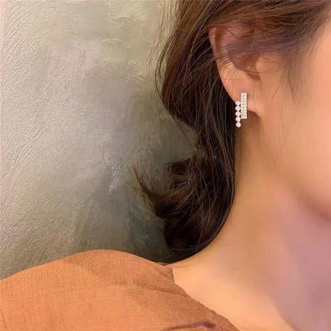 fashion diamond-studded pearl retro earrings  NHGU307036's discount tags