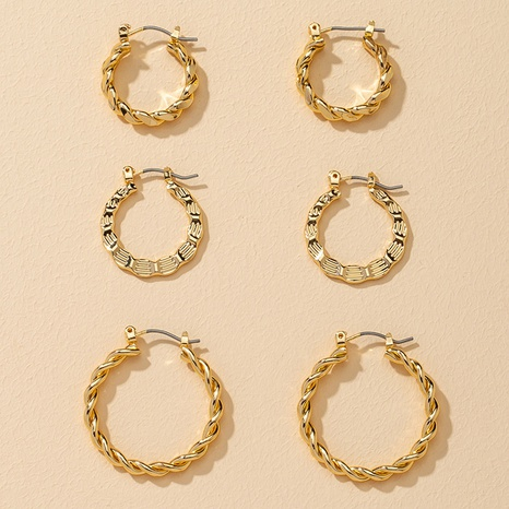 fashion metal retro earrings 3 pairs NHGU307038's discount tags