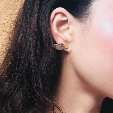 fashion alloy irregular leaf earrings  NHGU307056's discount tags