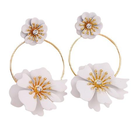 Mode Metall Sprühfarbe große Blumenohrringe NHGU307057's discount tags