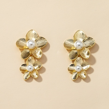 fashion flower pearl alloy earrings  NHGU307059's discount tags