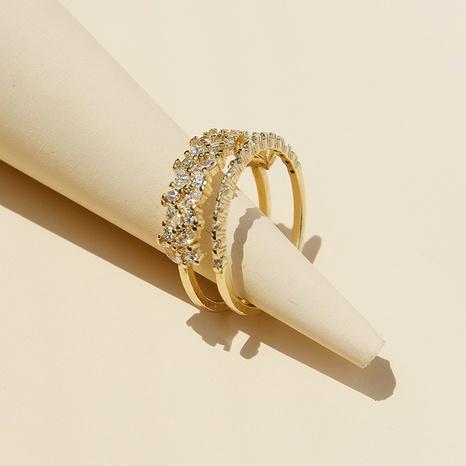 fashion micro-inlaid zircon open ring  NHGU307062's discount tags