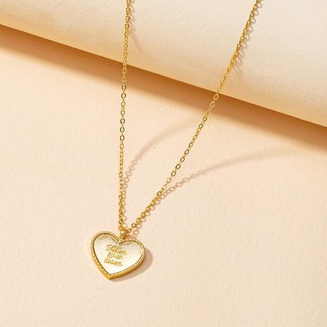 letras de moda te amo más collar NHGU307064's discount tags
